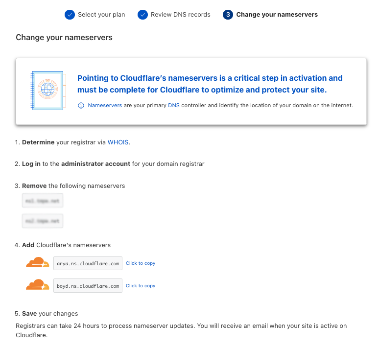 How to connect your domain with a Cloudflare account